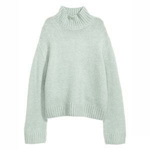 H&M Mint Turtleneck Sweater